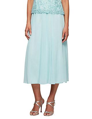 7e0206fe5a Alex Evenings. Alex Evenings Chiffon Tea-Length Skirt