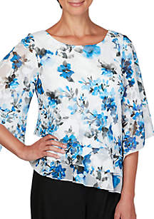 Tiered Floral Blouse