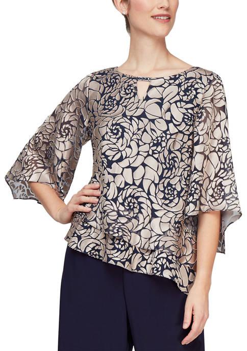 Womens 3/4 Sleeve Blouse