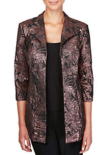 Elongated Print Jacket Twin Set