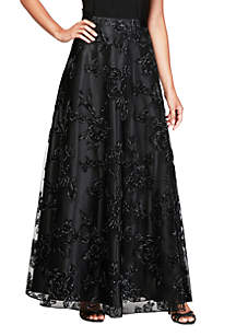 Long Embroidered Ball Gown Skirt