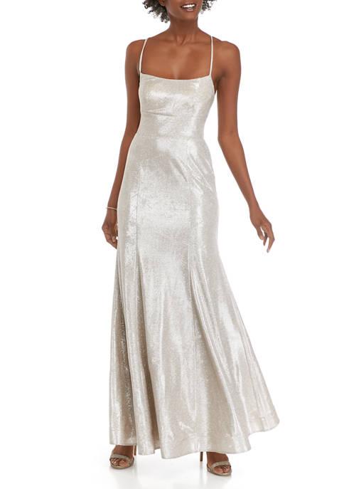 Womens Glitter Mermaid Gown