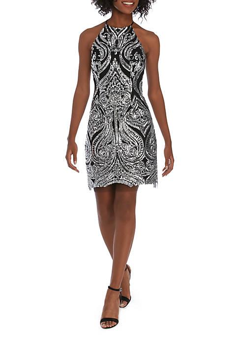 B. Darlin Tonal Sequin Shift Dress