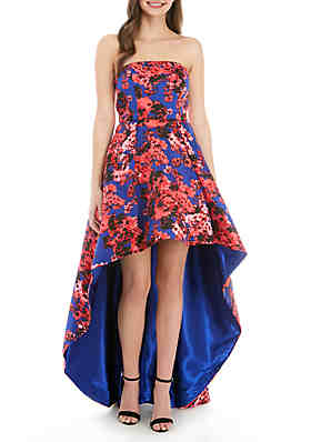 738b4dfbb8c B. Darlin Strapless Floral High Low Gown ...