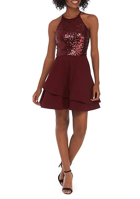 B. Darlin Sleeveless Halter Dress