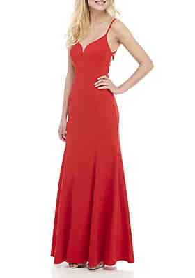 70f3c4389 B. Darlin Strappy Mermaid Gown ...