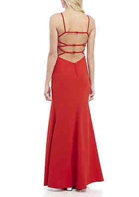 c7fad0199386 B. Darlin Strappy Mermaid Gown B. Darlin Strappy Mermaid Gown