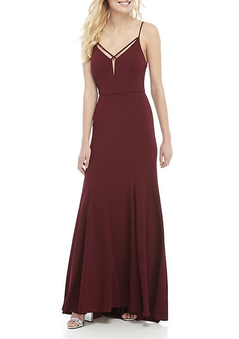 Spaghetti Strap High Low Gown