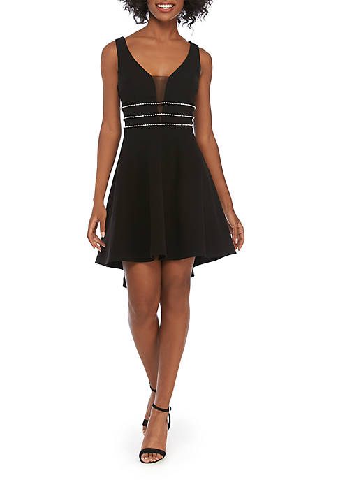 B. Darlin Fit and Flare High Low Dress