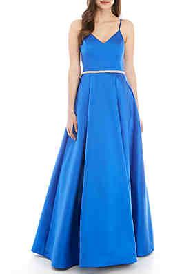 df8f9b7970b7 B. Darlin Taffeta Gown with Embellished Waist ...