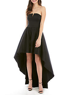 41709a1b2fb ... B. Darlin Taffeta High Low Strapless Dress