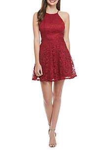 Sleeveless Lace String Back Dress