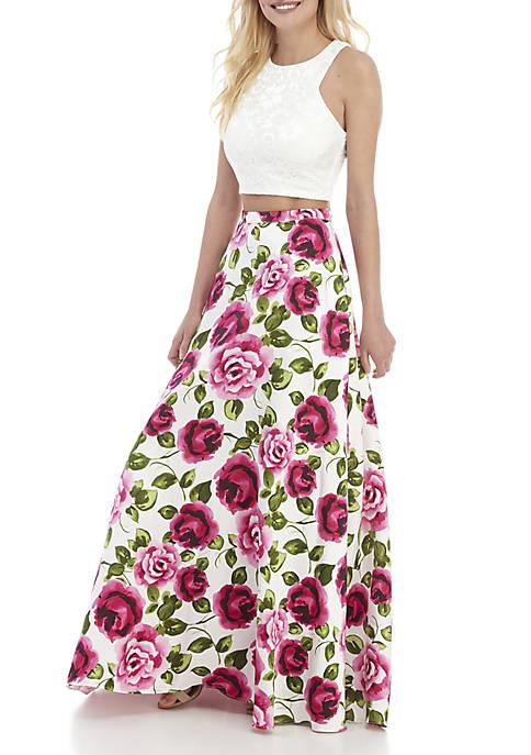 B. Darlin 2-Piece Floral Print Gown