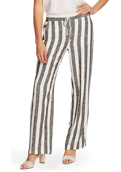 Tie Front Stripe Pants