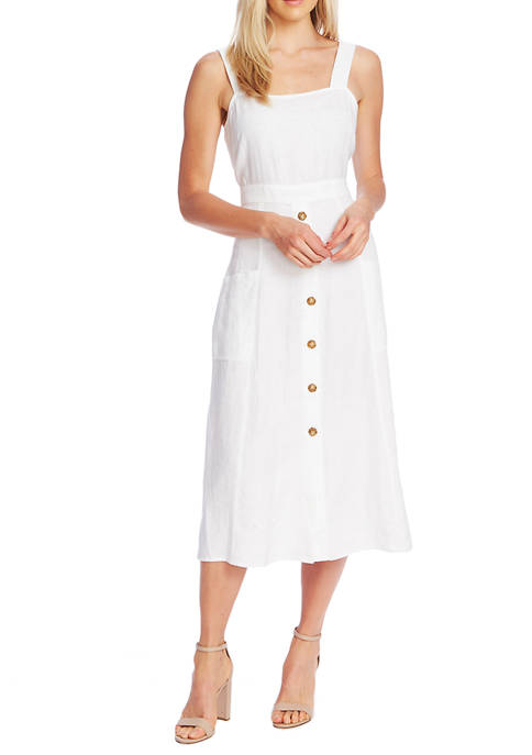 Womens Sleeveless A Line 2 Pocket Dress