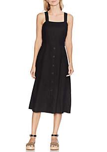 Vince Camuto Button Front 2 Pocket Linen Dress
