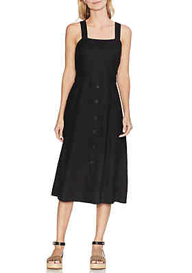 f9ac7983 Vince Camuto Button Front 2 Pocket Linen Dress ...