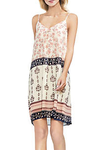 Tile Inverted Pleat Cami Dress
