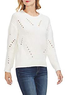Long Sleeve Rib Knit Sweater