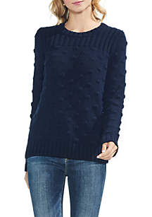 Vince Camuto Long Sleeve Ribbed Popcorn Stitch Sweater