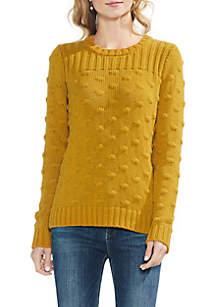 Long Sleeve Ribbed Popcorn Stitch Sweater