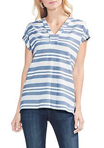 Extended Shoulder Stripe Top