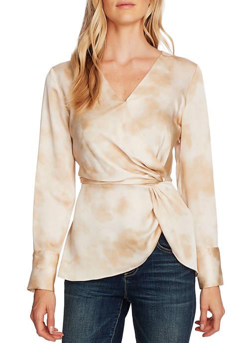 Womens Long Sleeve Tie Dye Blouse