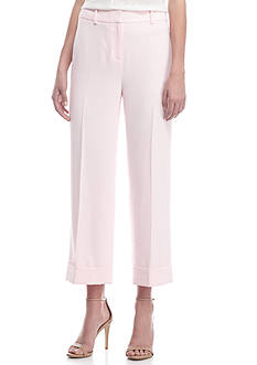 Vince Camuto Front Zip Cuffed Crop Ankle Pants
