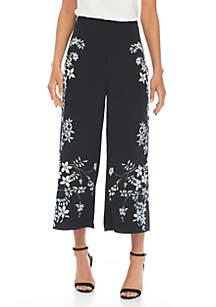 Vince Camuto Floral Printed Wide Leg Pants