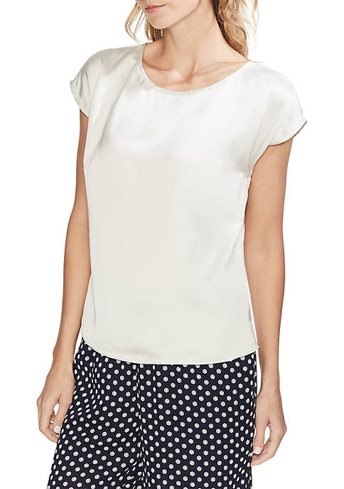 Vince Camuto Extend Shoulder Satin Blouse