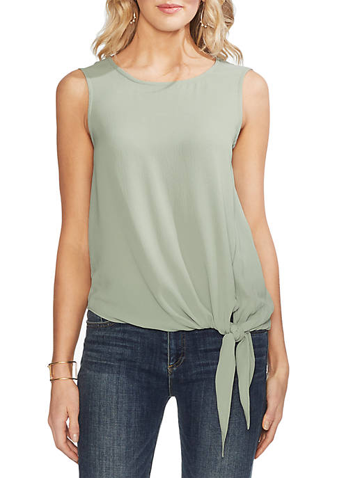 Vince Camuto Essential Tie Front Sleeveless Blouse