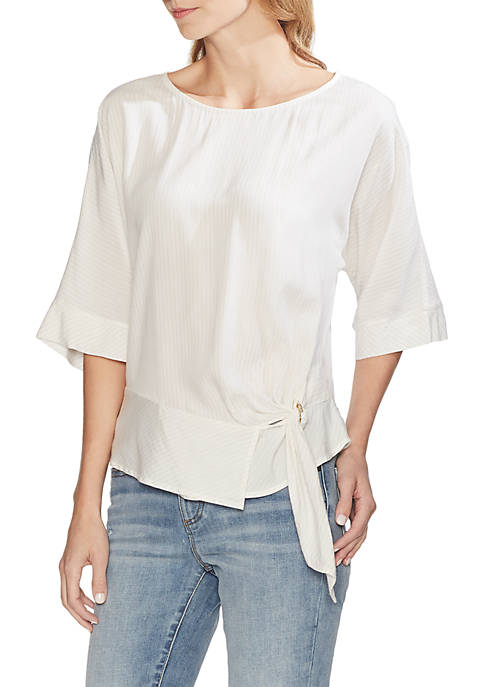 Vince Camuto Lurex Dolman Sleeve Side Tie Blouse