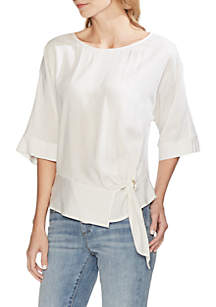 fe26f151ff ... Vince Camuto Lurex Dolman Sleeve Side Tie Blouse