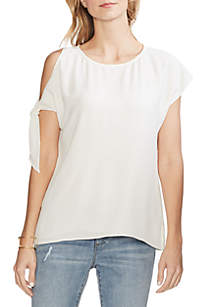 Vince Camuto Short Sleeve Single Cold Shoulder Blouse