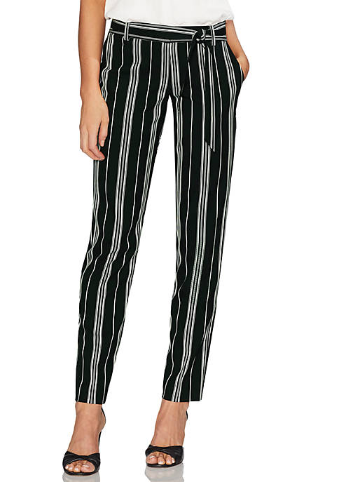 Paper Bag Waist Stripe Pants