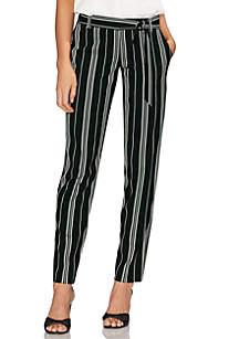 Vince Camuto Paper Bag Waist Stripe Pants