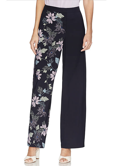 Floral Vines Wide Leg Soft Pants