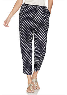 Vince Camuto Geometric Print Pull-On Soft Pants