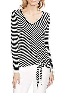 Vince Camuto Tie Front Asymmetrical Knit Top