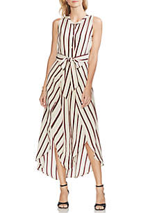 Vince Camuto Stripe Tie Front Dress