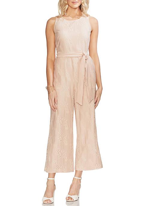 Lace Belted Jumpsuit