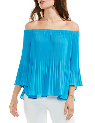 4bdfee210e50ed Vince Camuto. Vince Camuto Pleated Off the Shoulder Blouse