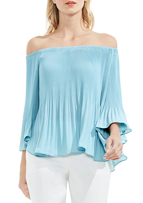 a1568b12d6286 Vince Camuto Long Sleeve Off The Shoulder Blouse