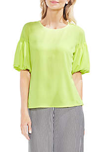 Bubble Sleeve Soft Textured Blouse