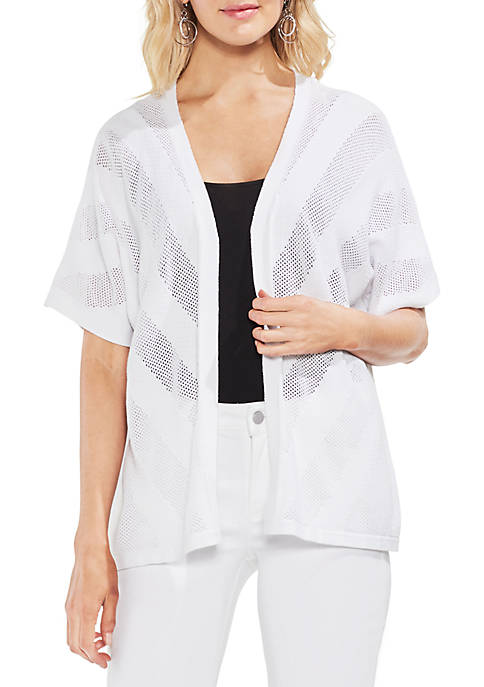 Vince Camuto Dolman Sleeve Pointelle Cardigan