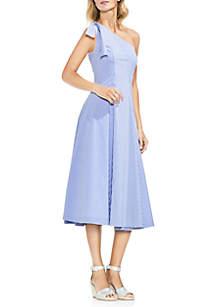 Tie One Shoulder Stripe Maxi Dress