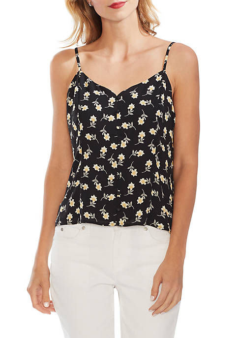 Ditsy Button Front Cami Blouse