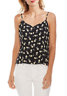 a1a76c3e8 Vince Camuto Floral Ruffle Sleeve Blouse · Vince Camuto Ditsy Button Front  Cami Blouse