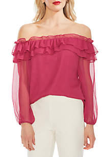 a5aa129822352d ... Vince Camuto Ruffled Off The Shoulder Blouse