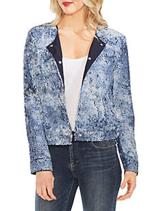 Vince Camuto Tie Dye Sequin Bomber Jacket